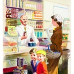 Beautiful colour illustrations at the Ladybird by Design Exhibition
