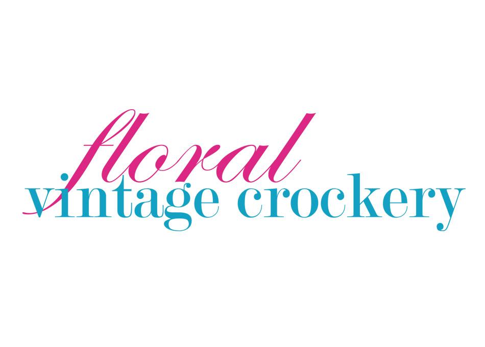 Floral Vintage Crockery Logo