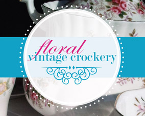 Floral Vintage Crockery Logo & Flyer