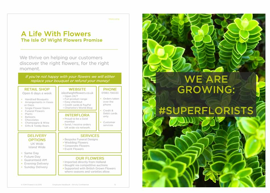 Isle of Wight Flowers Employee Handbook